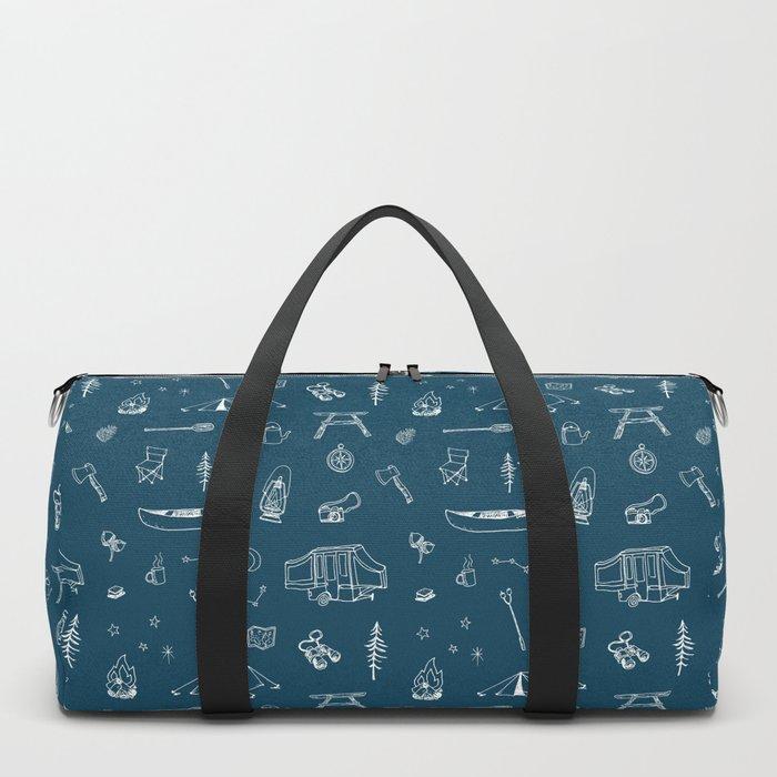 Simple Camping blue Duffle Bag