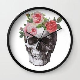 Skull & Roses Wall Clock