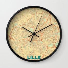 Lille Map Retro Wall Clock