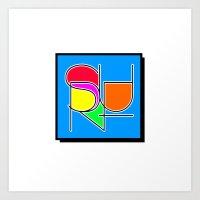 Surf Abstract Art Print