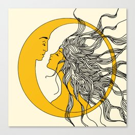 Sun and Moon Canvas Print