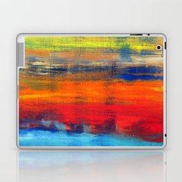 Horizon Blue Orange Red Abstract Art Laptop & iPad Skin