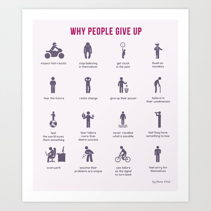 Why People Give Up Art Print