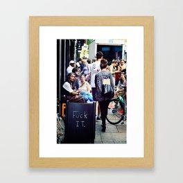 F It Framed Art Print