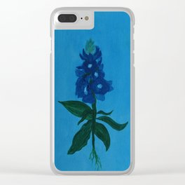 Blue Bonnet Clear iPhone Case