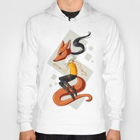 kitsune Hoodies featuring Kitsune 2 by Freeminds