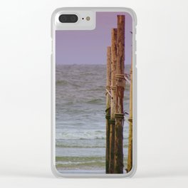 At the sea Clear iPhone Case