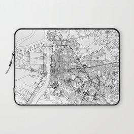 Baton Rouge White Map Laptop Sleeve