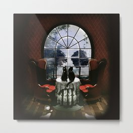 Room Skull Metal Print