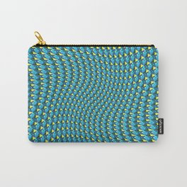 Retro High Definition Wave Pulse Carry-All Pouch