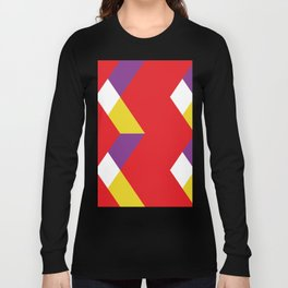 Mountains, or waves, or letters M, or polygons... all in a red carpet. Long Sleeve T-shirt