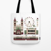 vienna Tote Bags featuring Vienna / Wien by koivo