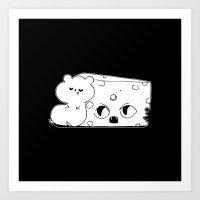 rat Art Prints featuring ▴ rat ▴ by PIXIE ❤︎ PUNK