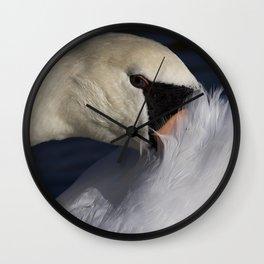 The Shy Swan Wall Clock