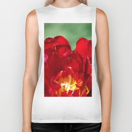 Red Tulip Biker Tank