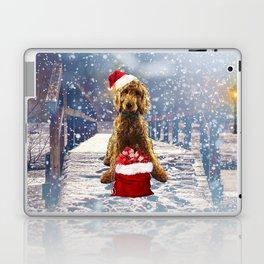 Christmas Golden Doodle Laptop & iPad Skin