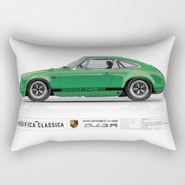 1967 Porsche 912R SIGNAL GREEN Rectangular Pillow
