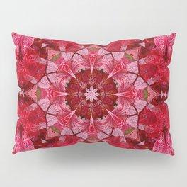 Red autumn leaves kaleidoscope - Cranberrybush Viburnum Pillow Sham
