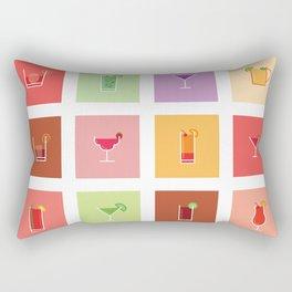 Classic Cocktails Print Art Poster | Drink Recipes | Bar Poster | Bar Art | Kitchen Art | Alcohol Rectangular Pillow