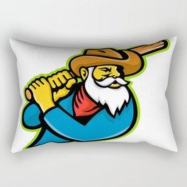 Miner Baseball Player Mascot Rectangular Pillow
