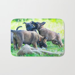 Wild Puppies Herder-Shepherds Bath Mat