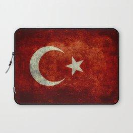 National flag of Turkey, Vintage textured Laptop Sleeve