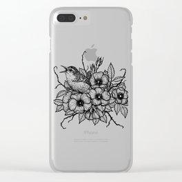 Wren bouquet Clear iPhone Case