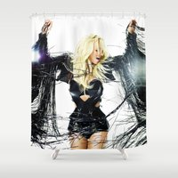 britney spears Shower Curtains featuring Britney Body Ache by eriicms