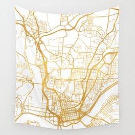 CINCINNATI OHIO CITY STREET MAP ART Wall Tapestry