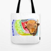 buffalo Tote Bags featuring BUFFALO by dorc