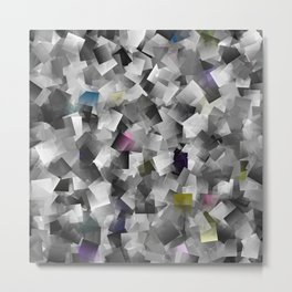 abstract metal pattern Metal Print