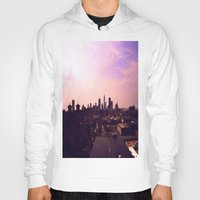 cleveland Hoodies featuring Cleveland Skyline by Toni Tylicki