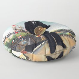 Henri Rousseau - Moi-même, Portrait-paysage - Autoportrait - Self Portrait Floor Pillow