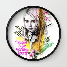 Spring spirit Wall Clock