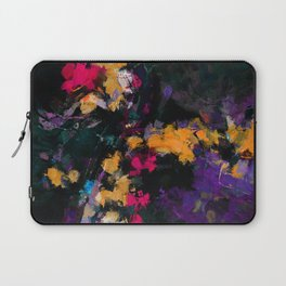 Purple and Yellow Abstract / Surrealist Painting Laptop Sleeve