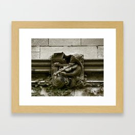 Musician Gargoyle, University of Chicago v.2 Framed Art Print