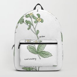 Wildflower Guide Illustration Backpack
