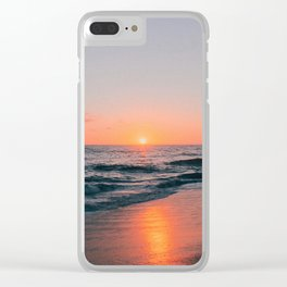 Sunset on the Sand Clear iPhone Case