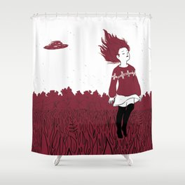 Leaving Shower Curtain
