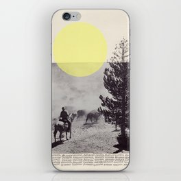 Many a trip continues long after movement in time and space have ceased.  iPhone Skin