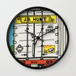 J.B. Hunt Wall Clock