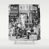 seoul Shower Curtains featuring Everyday Seoul by Jennifer Stinson