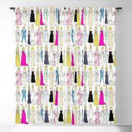 Blonde Diamonds Fashion Blackout Curtain