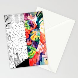 Right Left Brain Stationery Cards
