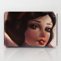 snow white iPad Cases featuring Snow white by ChrySsV