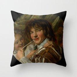 """Frans Hals """"The smoker"""" Throw Pillow"""