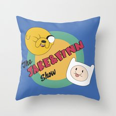 The Jake & Finn Show. Throw Pillow