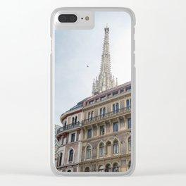 St stephen Cathedral Vienna Austria 2 sky bird Clear iPhone Case