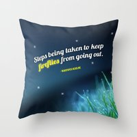 firefly Throw Pillows featuring Firefly by CampbellsAdopt