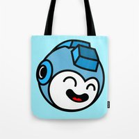 mega man Tote Bags featuring Mega Man by La Manette